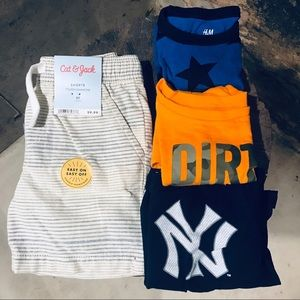 Boys 2T/24m bundle Yankees dirt magnet stars